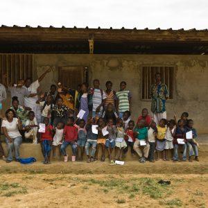 Sabine en mission au Gabon pour l'Institut Jane Goodall
